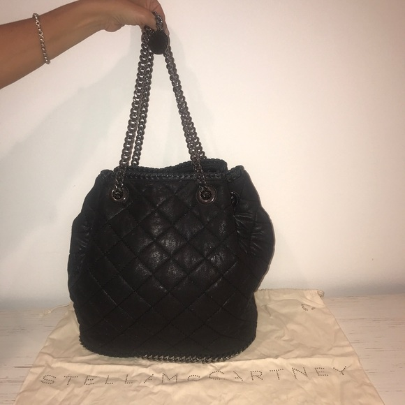 AUTHENTIC Black Chain Stella McCartney Bucket Bag.  M 5b91d844d8a2c79d323d578f ed9a068c7a3c7